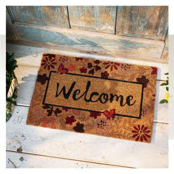 Kokosmatte Welcome
