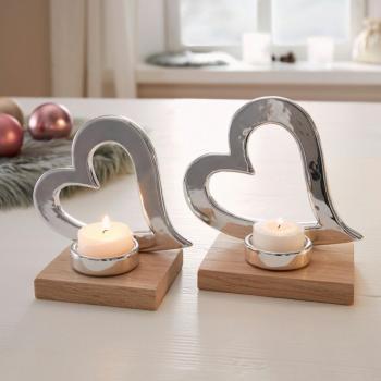 Teelichthalter Herz 2er Set